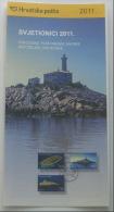 LIGHTHOUSES 2011. - Croatia Post Postage Stamp Prospectus * Phare Lighthouse Phares Leuchtturm Faro Farol Vuurtoren - Faros