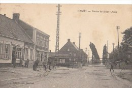 59 CASSEL  Ligne De Chemin De Fer  PASSAGE à NIVEAU Route De St OMER CAFE TABAC Animation 1938 - Cassel