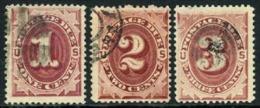 US J22-24 Used 1-3c Postage Dues Of 1891 - Postage Due