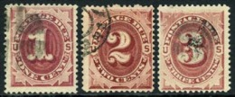 US J22-24 Used 1-3c Postage Dues Of 1891 - Portomarken