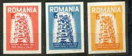 Roumanie, Privé, Europa 1956, Série Complète, Non Dentelés, Imperf., */mh - Europäischer Gedanke