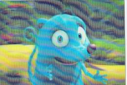 AK COMICFIGUREN  MONTE DR.HORTON  BLUE SKY  OLD POSTCARD  3D - Comicfiguren