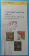 CROATIAN ETHNOGRAPHIC HERITAGE 2010. -  Croatia Post Postage Stamps Prospectus * National Costume Folk Costumes - Disfraces