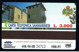 07 - SAN MARINO - TESSERA TELEFONICA NO. 26  NUOVA - San Marino