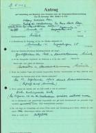 1948  Antrag Fûr Kriegsschschäden  Kompleter Akte  -  9 Bilder ßuper Umschlag - Historical Documents