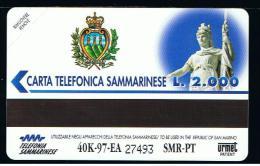 07 - SAN MARINO - TESSERA TELEFONICA NO. 15  NUOVA - San Marino