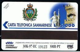 07 - SAN MARINO - TESSERA TELEFONICA NO. 17  NUOVA - San Marino
