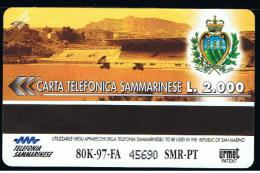 07 - SAN MARINO - TESSERA TELEFONICA NO. 19  NUOVA - San Marino