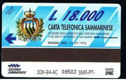 07 - SAN MARINO - TESSERA TELEFONICA NO. 3  NUOVA - Saint-Marin