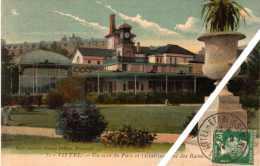 Vittel : Un Coin Du Parc Et L'Etablissement Des Bains. Cachet à Date : Vittel-établissements-Vosges : 12/09/1924 - Vittel Contrexeville