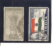 India Nº Yvert 1-2 (usado) (o) - 1947-49 Dominio Británico
