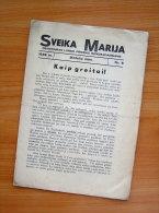1939 Lithuania Lietuva/ Sveika Marija - Oude Boeken