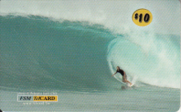 MICRONESIA - Surfer, FSM Tel Prepaid Card $10, Used