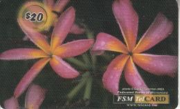 MICRONESIA - Flowers, FSM Tel Prepaid Card $20, Used - Micronesia