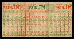 Ticket (de Rationnement ?) PAIN JM : Janvier Février Mars 1949 - Très Bon état - Historical Documents