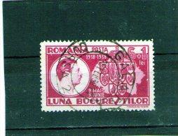 1938 - Expo LUNA BUCURESTILOR  Mi No 552 Et Yv  553 - Usado
