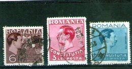 1938 - Nonvelle Constitution  YV 532/534 Et Michel 549/551 ( 3.20 Euro ) - Gebraucht