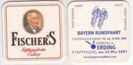 Fischers Stiftungsbräu Erding , Bayern Rundfahrt / Radrennen 2001 - Bierdeckel
