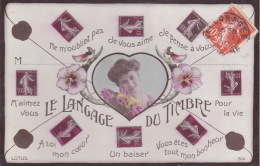 CPA - Langage Du Timbre - Briefmarken (Abbildungen)