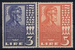 San Marino: 1938, Sa 211-212 , Mi 235-236, MNH/** - San Marino