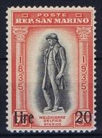 San Marino: 1942, Sa 227 , Mi 258, MNH/** - San Marino