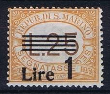 San Marino: Sa 52 , Mi  61,  1936  MNH/**, Postage Due, Segnatasse - Strafport