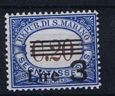 San Marino: Sa 63 , Mi  63,  1936  MH/*, Postage Due, Segnatasse - Strafport