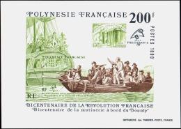 Polynésie  épreuves De Luxe Blocs  N°15 Philefrance 89 -Mutinerie Du Bounty Bloc épreuve De Luxe - Non Classificati