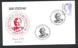 ITALY ITALIA 2011. SPECIAL POSTMARK. CICERON. WRITER ARPINO. - Beroemde Personen