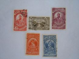 Ethiopie Ethiopia Athiopien 1931 Série Courante Yv 199-203 O Short Set - Ethiopie
