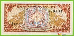 Voyo BHUTAN 5 Ngultrum ND/1994  P14b B203b UNC Birds Prefix C/5 - Bhoutan