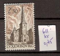 Luxembourg 611 **  Côte 0.75 € - Ungebraucht