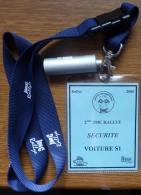 2005-RALLYE JALHAY-PASS VOITURE SECURITY-EN SUS BOITIER ALU POUR BOUCHON OREILLE-NEUF. - Automobile - F1