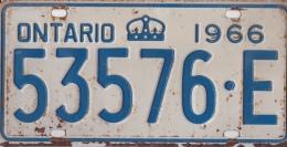 KENTEKENPLAAT CANADA ONTARIO 1966 53576.E - Number Plates