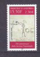Andorra Fr. 2000 25e Anniv. Des Archives Nationals MNH ** Yvert 539 - Andorre Français