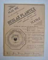 Pub REGLAX PLANITEX Machine à Calculer Industrie Textile Par SETIC Métiers à Tisser Tissage / 1 Pages - 45K4 - Publicités