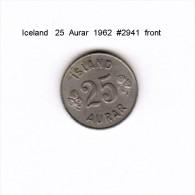 ICELAND    25  AURAR  1962  (KM # 11) - Iceland