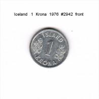 ICELAND    1  KRONA  1976  (KM # 23) - Iceland