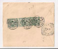 STORIA POSTALE BUSTA DA NAPOLI PER PISCIOTTA SALERNO DEL 27-4-1911 - 1900-44 Vittorio Emanuele III