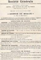 VP131 - MEAUX -  Affiche De La Société Général / Agence De MEAUX - Posters