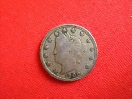 5 Cent. U.S.A /1908 Argent / TTB.+ - Émissions Fédérales