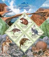 slm13421a Solomon Is. 2013 Australian Fauna Extinct mammals s/s