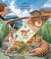 slm13421b Solomon Is. 2013 Australian Fauna Extinct mammals s/s