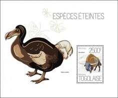 tg13609b Togo 2013 Extinct Species bird Ox s/s