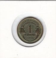 1 FRANC Alu Bronze 1933 MORLON - Francia