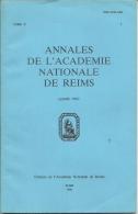 Livret   Annales De L'Académie Nationale De REIMS (1984) - Documentos Antiguos