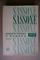 PBX/4 SASSONE Francobolli EUROPA Vol.II 1973/Malta - O.N.U. - Cataloghi