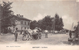 ¤¤  -  XERTIGNY   -  La Gare  -  Attelage De Boeufs   -  ¤¤ - Xertigny