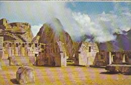 Peru Cuzco Machupicchu Sacred Plaza &amp  Temple Of 3 Window