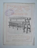 Pub Herm. Schroers à Crefeld - Bobinoir à Enroulage Croisé - Filature Tissage - 4 Pages Dont Couverture - 45M6 - Reclame